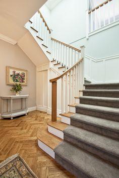 American Oak Treads   Classic   Elegant   Soft   Carpet   Stair   Bullnose  