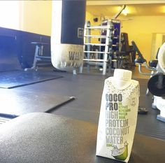 What better way to recovery after an intense afternoon session?  #CocoPro #LetsGo #highprotein #coconutwater