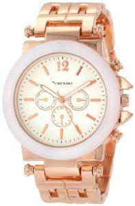 38.46 amazon.com Vernier Women's VNR2364RS Enamel Look Bracelet Quartz Watch: Watches: Amazon.com