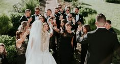 Champagne toast for the happy couple - and I love the back view of the bride's dress! Champagne Toast, Ivory Wedding, Bridesmaid Dresses, Wedding Dresses, Wedding Planning, June, Elegant, Couples, Happy