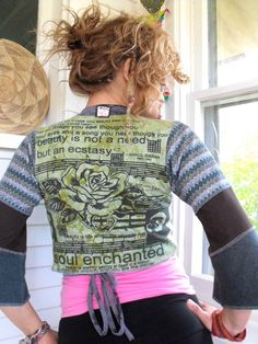 Upcycled Clothing patchworkEco Cropped Artisan Wrap by zasra, $70.00
