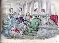 1861 Godeys fashion plate January Note: new link to original description in Hathi Trust