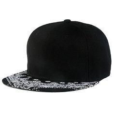 c011cb27f99 Click to Buy    Paisley Black Snapback Boy Hiphop Hat Adjustable Baseball  Cap