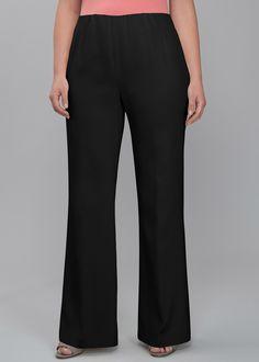 Plus Size Crepe De Chine Studio Pants | Lafayette 148 New York