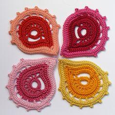 Motiv häkeln - crochet motif... Mehr wunderschöne Motive gibt es  auf meine Pinnwand Crochet Irish Motif  ;O)