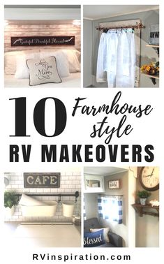 Incredible RV Makeovers with Farmhouse Style Decor Camper Interior, Diy Camper, Rv Campers, Camper Trailers, Camper Ideas, Travel Trailers, Happy Campers, Travel Trailer Decor, Camper Storage