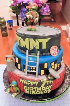 teenage mutant ninja turtles birthday cake - Google Search