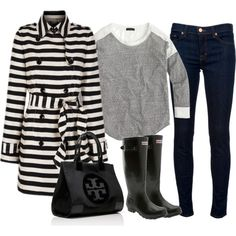 """OOTD 2.7.15 Rainy Day"" by crystaljoyce on Polyvore"
