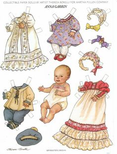 Paper Dolls THERESA BORELLI did for Martha Pullen Company These