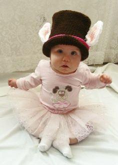 Rabbit Mad Hatter Hat Crochet Pattern PDF 384 by SandysCapeCodOrig, $4.95