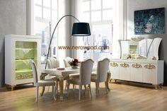 Safir table chair console mirror showcase table avangard furniture mobilya from nero wood