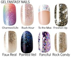 Kiss Nail Products: Gel Fantasy Nails,, all 8 designs/patterns of the ready to wear gell by kiss**