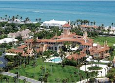 Mar-a-Lago Palm Beach Mansion.Now owned by Donald Trump. West Palm Beach, Palm Beach County, Designer Dog Carriers, Donald Trump House, Ivana Trump, Beach Mansion, Beach House, Rush Limbaugh, Celebrity Houses