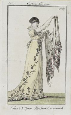 "1804-1805, Empire Age dress. The first ""woman can wear whats comfortable"" action ever."