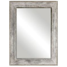 """This Oversized Mirror Features A Hand Forged, Metal Sheeting Frame Finished In Heavily Distressed Rust Gray With An Aged White Over Wash And Silver Undertones. Mirror Has A Generous 1 1/4"""" Bevel. May Be Hung Horizontal Or Vertical."""