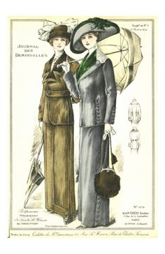 1912 walking suits. Love the accessories!