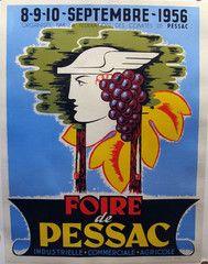 1956 Original French Festival Poster, Foire de Pessac - Unknown