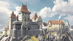 Medieval city of Gwentar **** Feel free to use this picter, BUT if u do, leave me a comment pls and tell me where you gnna use it**** Its updated versio. Medieval city of Gwentar Fantasy City, Fantasy Castle, Fantasy Places, High Fantasy, Fantasy Rpg, Medieval Fantasy, Fantasy Artwork, Fantasy World, Castillo Feudal