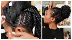 Feed In Stitch Braids Bun With Pre-Stretched Hair - Very Affordable [Video] - https://blackhairinformation.com/video-gallery/feed-stitch-braids-bun-pre-stretched-hair-affordable-video/
