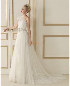 Robe de marie tulle cristal col asymtrique 2014