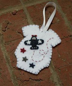 Baby's First Christmas Felt Onesie Ornament