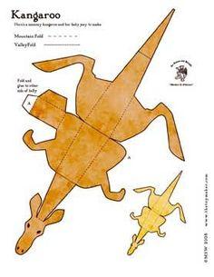kangaroo tracks coloring pages - photo#43