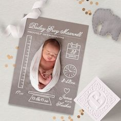 Creative Measurements Birth Announcements by Minted Artist Shari Margolin