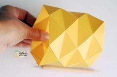 Origami macetero