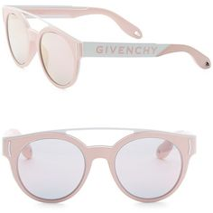 a65a70d50fa Givenchy 50MM Round Sunglasses ( 296) ❤ liked on Polyvore featuring  accessories