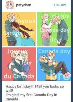 hetalia, aph america, aph england, aph france, aph canada, aph face family, aph seychelles<<<<<He's 149 now! Happy b-day Canada!