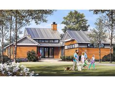 063H-0228: Contemporary House Plan with Outdoor Living Areas Craftsman Style House Plans, Cottage House Plans, Craftsman Houses, Contemporary House Plans, Contemporary Bathrooms, Ranch Style Homes, Best House Plans, Build Your Dream Home, Great Rooms