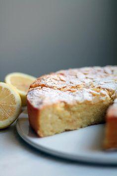 Sitruunainen ricotta-mantelikakku by Lunni leipoo Baking Recipes, Cake Recipes, Norwegian Food, Dessert Bread, Gluten Free Baking, Desert Recipes, Let Them Eat Cake, Yummy Cakes, No Bake Cake