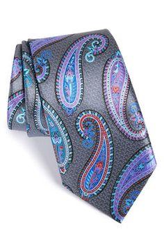 Men's Ermenegildo Zegna 'Quindici' Paisley Print Silk Tie