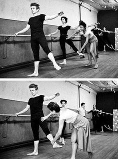 James Dean ballet lessons