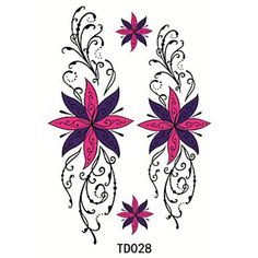 HJLWST 1pcs Temporary Tattoo Sticker Flower *** Check out this great product. (This is an affiliate link) #Makeup