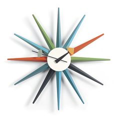 George Nelson sunburst clock - a design icon and  inspiration for Tangent Astral Nights Pattern