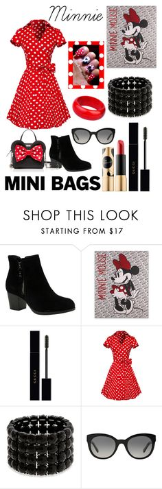 """Minnie mouse"" by monarch-butterfly ❤ liked on Polyvore featuring Skechers, Kate Spade, Sephora Collection, Gucci, Erica Lyons and Burberry"