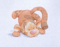 Baby Tigger watercolour by ShaneMadeArt.deviantart.com on @deviantART