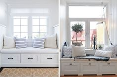 Built In Bench, Bench Seat, Window Benches, New Room, My House, Sweet Home, New Homes, Loft, Room Decor