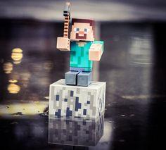 Steve, floating