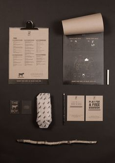 THE COW BOY IDENTITY Designed by London based graphic designer Livia Ritthaler. in Restaurant