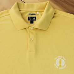 ADIDAS CLIMACOOL Yellow polo golf shirt men's XL. 2008 Open Royal Birkdale logo. Great color for the course. #Adidas #PoloRugby