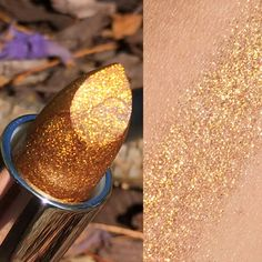 New MIDAS TOUCH Gold Glitter Lipstick or by AddictiveCosmetics