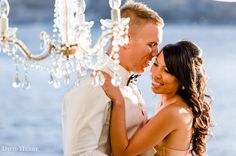 Sydney Harbour Wedding photos, with chandelier