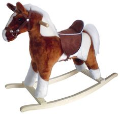 Pinto Horse w/Brown Saddle