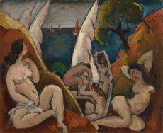 Max Weber. The Bathers. 1909. The Baltimore Museum of Art: The Cone Collection, formed by Dr. Claribel Cone and Miss Etta Cone of Baltimore, Maryland, BMA 1950.309. © Estate of Max Weber