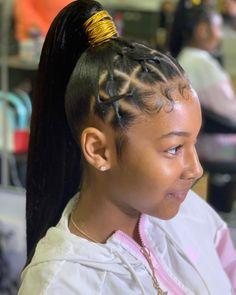 Full Fringe Hairstyles, Hair Ponytail Styles, Weave Ponytail Hairstyles, Black Girl Braided Hairstyles, Sleek Ponytail, Baddie Hairstyles, Bouffant Hairstyles, Retro Hairstyles, Party Hairstyles