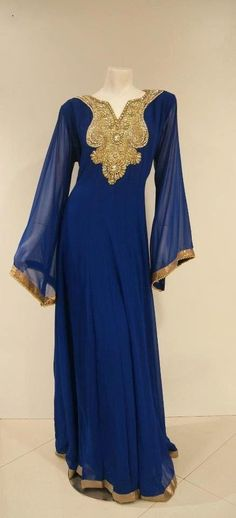 New Design 2015 Middle East Evening Dresses Formal Royal Blue Dubai Dresses with Gold Beads Arabic Party Dress Online with $134.77/Piece on Orient2015's Store   DHgate.com