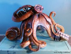 """""""Octopus Steampunk"""" Kris Dufay Créations"""