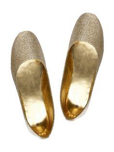 Dusty gold ballerinas
